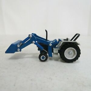 ERTL 1/64 Scale Diecast Ford Front Loader With Roll Bar Tractor Farm Toy Blue