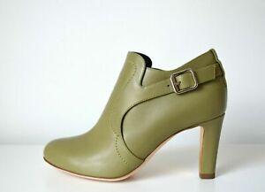 Rupert Sanderson Jocasta Olive Green Calf Leather boots UK4.5 /EU37.5 RRP £580