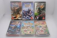 PSP Monster Hunter Portable 1 , 2nd , 2nd G 3rd Airou Village & G 6Games Japan