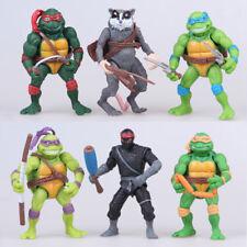 6 PCS Teenage Mutant Ninja Turtles TMNT Michelangelo PVC Action Figures Toy Gift