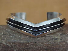 Native American Indian Jewelry Sterling Silver Bracelet by Tom Hawk!