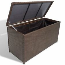 Superieur Outdoor Garden Storage Utility Chest Case Shed Poly Rattan Brown UK