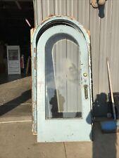En 621 Antique arch beveled glass entry door with jam 36 x 79.75