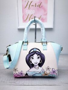 LOUNGEFLY x DISNEY Princess Jasmine Crossbody Satchel Aladdin Handbag Blue