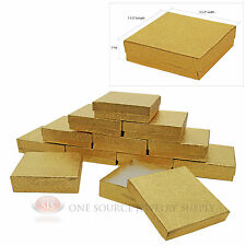 """12 Gold Swirl Cotton Filled Gift Boxes 3 1/2"""" X 3 1/2"""""""
