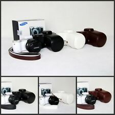 leather case bag for Samsung NX300 NX300M camera 20-50mm lens white black coffee