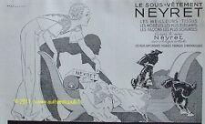 PUBLICITE LINGERIE NEYRET FOX TERRIER R VINCENT 1934 AD