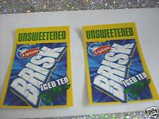 Unsweetened Lipton Brisk Ice Tea Stickers Free Shipping