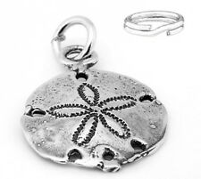"STERLING SILVER  ""SAND DOLLAR"" CHARM with SPLIT RING"