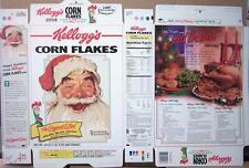 1996 Santa Kellogg's Corn Flakes Cereal Box unused factory Flat oc108