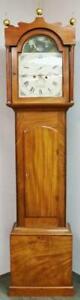 Antique English 8Day Striking Mahogany Automaton Swan Grandfather Longcase Clock