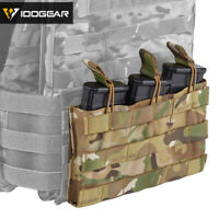 IDOGEAR Tactical Triple Open MOLLE Magazine Pouch Mag Carrier 5.56 Military Gear
