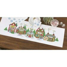 Herrschners® Christmas Village Table Runner Stamped Cross-Stitch