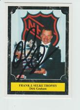Dirk Graham AUTOGRAPH 1991-92 SCORE HOCKEY CARD SIGNED