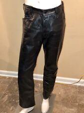 Vintage Black Leather Pants Mens Size 32 -34 Biker Fetish Folsom