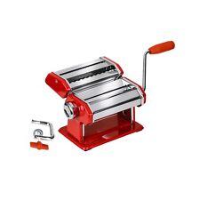 Pasta Maker Red/Chrome Steel Body