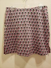 New GOLFTINI Size Large Pink Tan White Black Skort