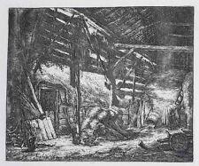 Adriaen Van Ostade  (Dutch 1610-1685) Etching The Barn 1647