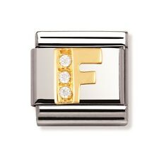 Genuine Nomination Classic Link Charm Letter F Brand New Stock Clearance rrp £39