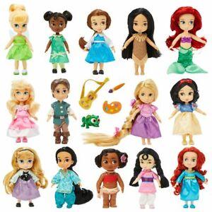 "Brand New Disney Animators Collection 5"" Mini Doll:Ariel,Mulan,Belle,Rapunzel"