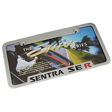 Nissan Sentra SE R Chrome Brass Notched License Plate Frame
