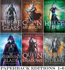 Young Adult THRONE OF GLASS Series by Sarah Maas PAPERBACK Collection Books 1-6