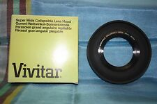 NEW IN BOX - VIVITAR 49MM SUPER WIDE-ANGLE COLLAPSIBLE RUBBER LENS HOOD