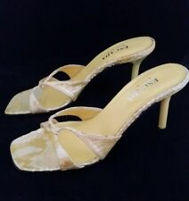 ESCADA faux snakeskin yellow heels, size 9, italy