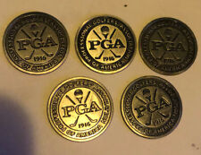 5 PGA 1916 Cross Club Golf Ball Markers. NEW OLD STOCK.