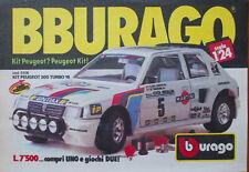 Pubblicità Advertising Werbung Italian 1988 BBURAGO KIT PEUGEOT 205 TURBO 16