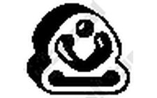 BOSAL Almohadilla de tope, silenciador NISSAN ALMERA QASHQAI X-TRAIL 255-133