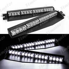 32W 32 LED Car truck Emergency Strobe Warning Split Mount Visor Beacon Light Bar