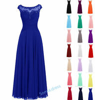New Long Lace Formal Bridesmaid Ball Gowns Party Cocktail Evening Prom Dresses