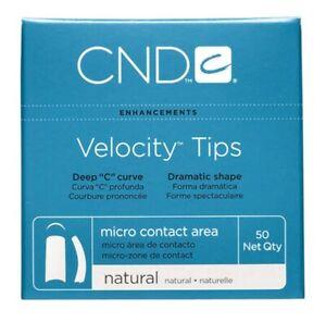 CND Eclipse Tips Natural / Velocity Tips Natural Nail Tips 50 Pack