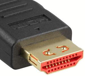 HDMI Kabel 1.5 m High Speed Full HD 3D TV vergoldete Stecker mit Sperrfunktion