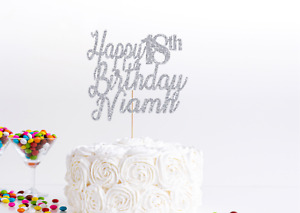 Personalised Happy Birthday Cake Toppers Baking Decorations Party Accessories