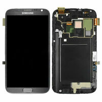 Full For Samsung Galaxy Note2 N7105 LCD Display Touch Screen Replacement +Frame