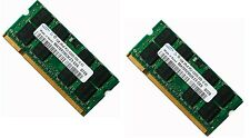 2GB 2x1GB DDR2 667 MHz PC2-5300 5300S SODIMM Laptop Memory CL5 RAM 200 Pin