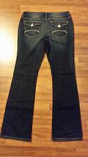 Womens a.n.a. Premium Boot Cut Stretch Flap Pocket Blue Jeans Size 31/12