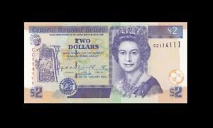 """1.1.2002 BRITISH COLONY BELIZE QEII $2 """"CC"""" **114111** (( GEM UNC ))"""