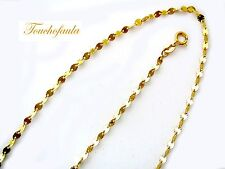 "14K yellow gold Diamond cut sparkling discs chain 16 "" 1.8 grams made in Italy."