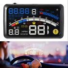 "5.5"" OBD2 Car GPS HUD Head-Up Display Projector Overspeed voltage gear Warning"