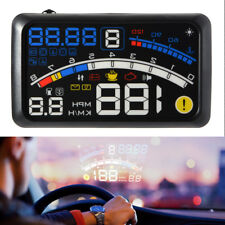 "5.5"" OBD2 Car GPS HUD Head-Up Display Projector Overspeed voltage gear Warning"