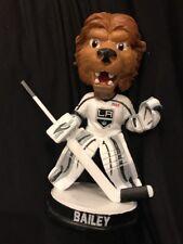 "LA Kings Mascot ""Bailey"" Goalie White Jersey SGA 2017 Bobblehead New In Box!"