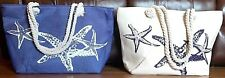 Ex.Large Beach Travel Tote Bag Canvas Shoulder Bag withCotton Rope Handle 23x14""