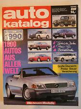 auto katalog Modelljahr 1990 Nr. 33 - Vereinigte Motor-Verlage GmbH, 290 Seiten