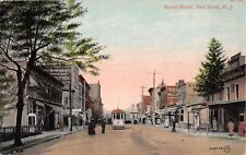 1910 Stores Broad St. Red Bank NJ post card