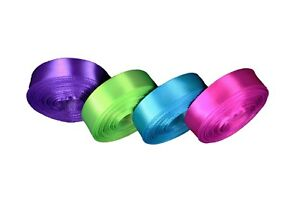 """CHRISTMAS Set 4 Rolled up 5/8"""" SF SATIN Ribbon 10 Yds each ( 40 Yds Total )"""