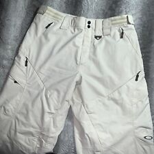Men's Oakley Logo Snowboard Ski Snow Pants Insulated Bone Size X Large Rare