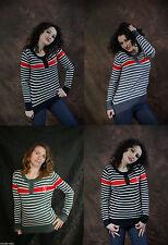Gestreifte Damen-Pullover & -Strickware aus Kaschmir
